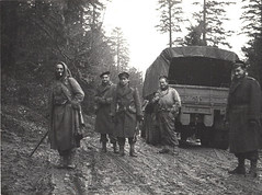 RFM- 1944 - Vosges RFM avec soldat du  22 bmna - Fonds H. Fercocq