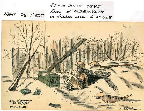 1945 - Elsenheim- Illustration Engelbach