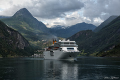 Costa Romantica in Geiranger photo by Håkon Kjøllmoen, Norway