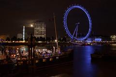 London Eye sur la Tamise - Moonlight Clair de lune - photo picture image photography photo by SuperCar-RoadTrip.fr