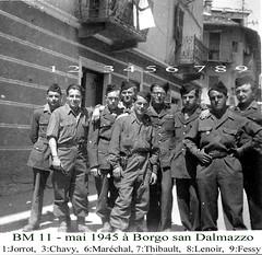 BM XI -1945 mai Borgo san dalmazzo - col. René Fessy