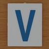 TESCO Hangman blue letter V