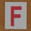 TESCO Hangman red letter F
