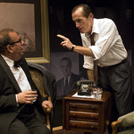 William Brown (Henry Kissinger) and Larry Yando (Nixon) in NIXON'S NIXON at Writers Theatre (2008). Photo by Michael Brosilow.