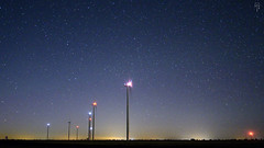 Panoramic, The Milky Way, Night, Windmill, Wind farm, Peñaflor de Hornija, Valladolid, Spain photo by Fco. Javier Cid