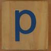 Brick letter p