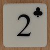 Playing Card Tile 2 of Clubs