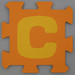 Foam Play Mat Letter C
