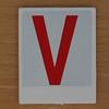 Hangman Red Letter V