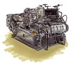 Machine impression Heidelberg