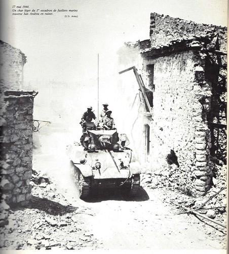 1944 -Italie- 17 mai -Char rfm à San andrea