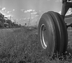 Tractor Tire -- (Ikoflex Ic + Fomapan 100) photo by PositiveAboutNegatives