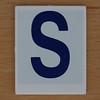 Hangman Blue Letter S