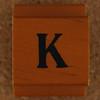 Rubber Stamp Letter K
