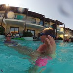 Giving mum a tow in the pool<br/>16 Aug 2014