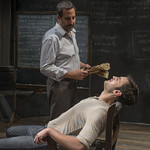 Marc Grapey (Robert Hooke) and Jürgen Hooper (Isaac Newton) in ISAAC'S EYE at Writers Theatre.  Photo by Michael Brosilow.