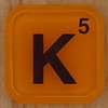 WORDS with friends letter K