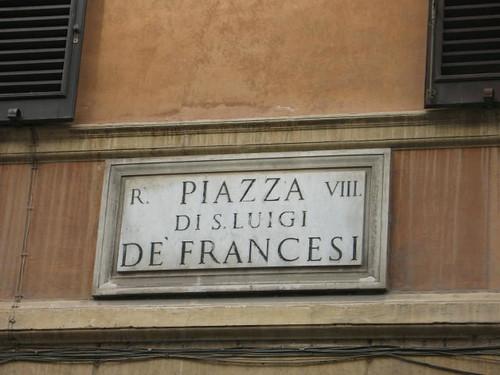 Italie- Rome- Place Saint Louis des Français CP : Etienne Jacheet