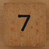 Wooden Cube Black Number 7
