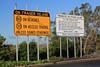 Fraser Island Rules Signs at River Heads Barges Carpark, , Hervey Bay, SE Queensland