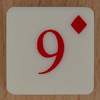 Playing Card Tile 9 of Diamonds