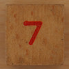 Wooden Cube Red Number 7