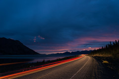Light Trail - Kluane Lake & Alaska Highway photo by Wroot Down