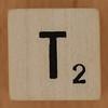Crossword dice letter T