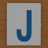 TESCO Hangman blue letter J