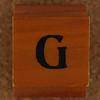 Rubber Stamp Letter G