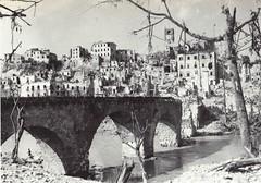 1944 - Italie - Pontecorvo en ruines et pont du Liri - Gaujac Ecpa