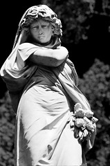 Burnsland Cemetery Black and White Lady May 14 2014-13-2 photo by Michael Mckinney (Find my Twitter @MMckinneypho