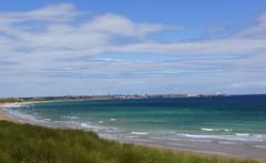 Fraserburgh beach at high tide. photo by artanglerPD