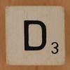 Crossword dice letter D