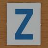 TESCO Hangman blue letter Z