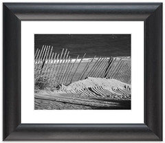Sandy Beach Fence Framed photo by Melissa Fague - Nature Photographer - Delaware