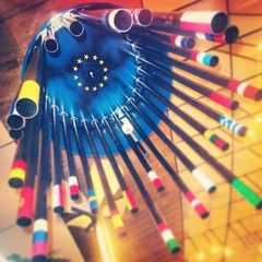 Instapic: the EU flag statue inside the European Parliament
