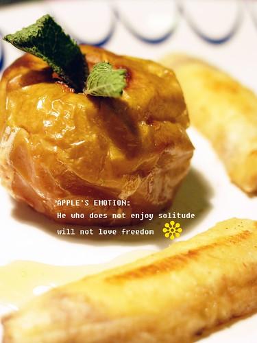 香烤蘋果與法式煎香蕉