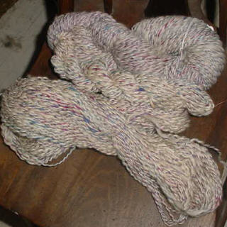 Silk and Coopworth yarn
