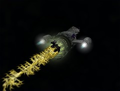 Firefly Drive with Yellow Exhaust