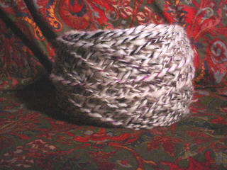 Rescued Skein of Coopworth/Silk Yarn