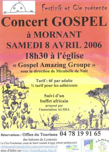 Concert de Gospel à Mornant le 8/04