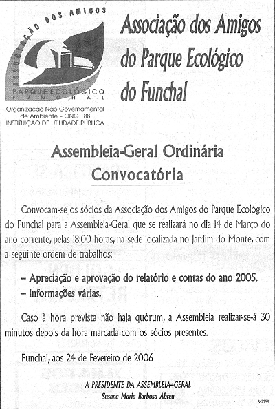 Assembleia-Geral Ordinária: Convocatória