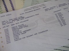 My SPM Slip, along with some other certificate.