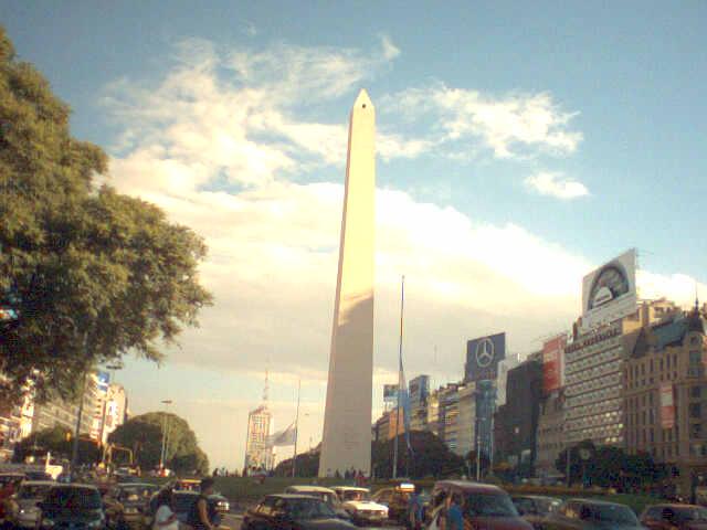 Le fameux obélisque de Buenos Aires...