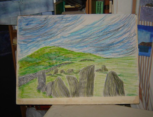 pastel sketch