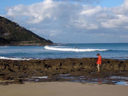 beach lone boy