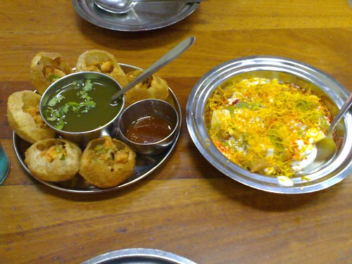 From left: Pani Puri and Dahi Pappadi Chaat