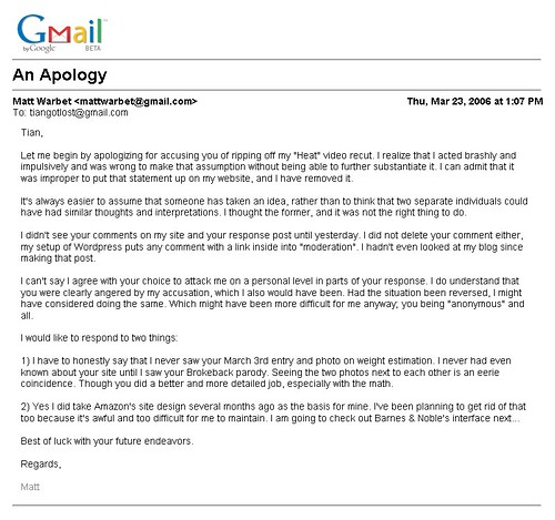 Gmail - Warbet's Apology To Me via Email