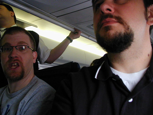 Evebird and me on a plane